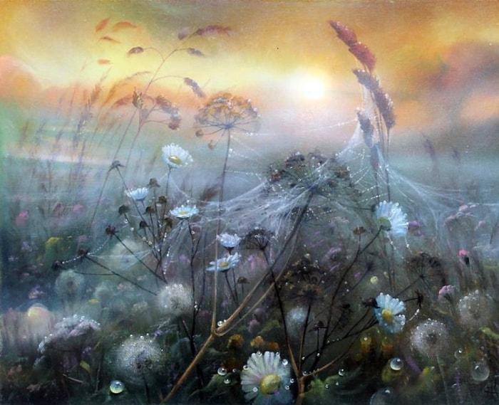 Как во сне — необыкновенные цветочные поляны художника Александра Желонкина