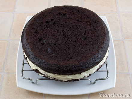 «Дьявольский» шоколадный торт — 12 шаг