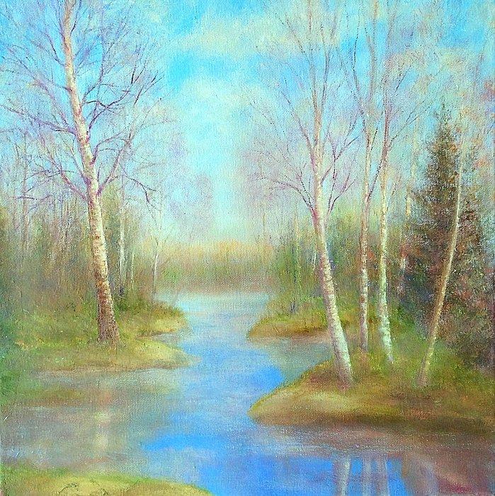 А воздух уж звенит весною… живопись Натальи Верочкиной