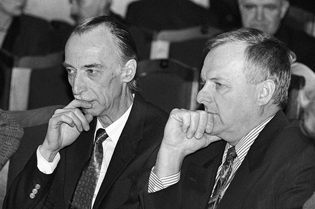 Александр Иванов и мэр Санкт-Петербурга Анатолий Собчак, 1993 г.
