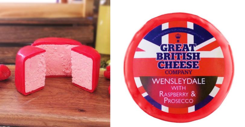 В Британии выпустили идеальный сыр: розовый, с малиной и игристым вином