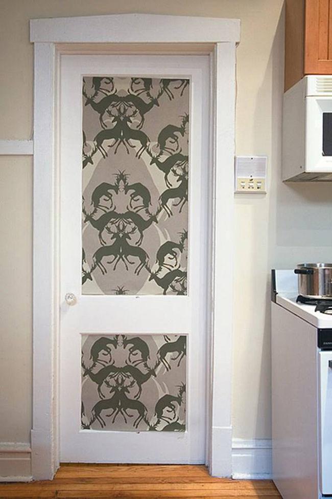 Original ideas for posters as door decoration interior desig.