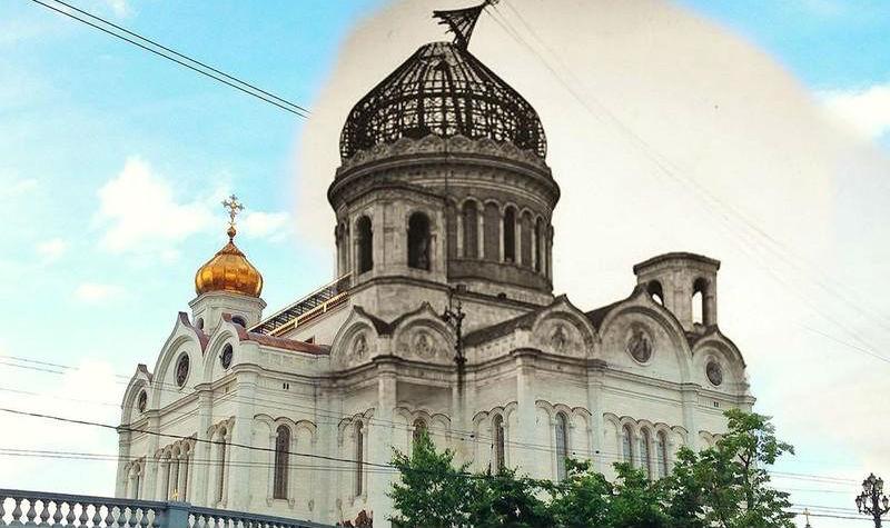Две Москвы в одном кадре