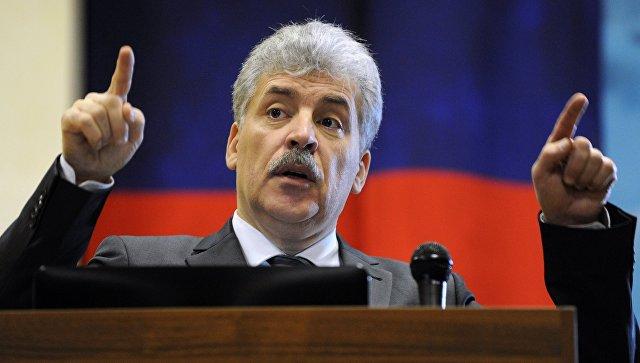 Грудинин заявил, что в случае избрания признает ЛНР и ДНР