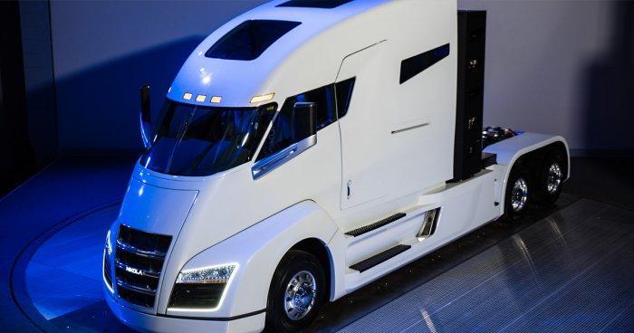 1000-сильный грузовик на водороде Nikola One проходит 2000 км без дозаправки
