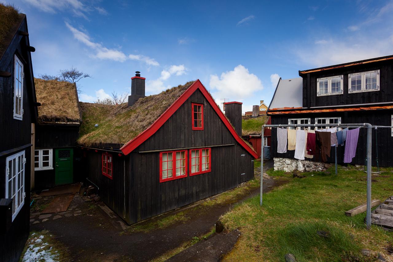 Фото достопримечательностей Стран Скандинавии: Самый интересный район столицы под названием Тинганес с историческими домиками