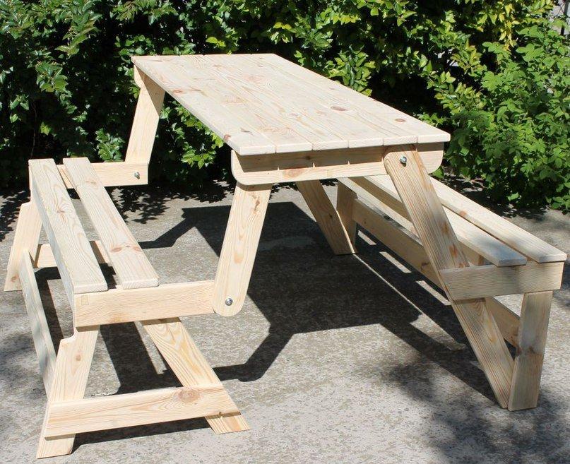 Как сделать красивую скамейку из дерева