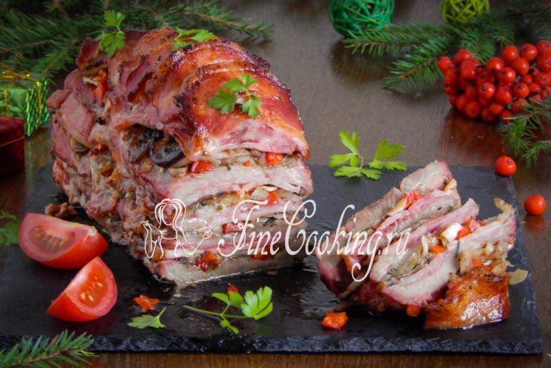 Слоеное мясо