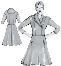 Выкройки зимних моделей платьев