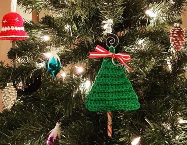 Новогодние леденцы в подарок — 5 идей для тех, кто вяжет крючком