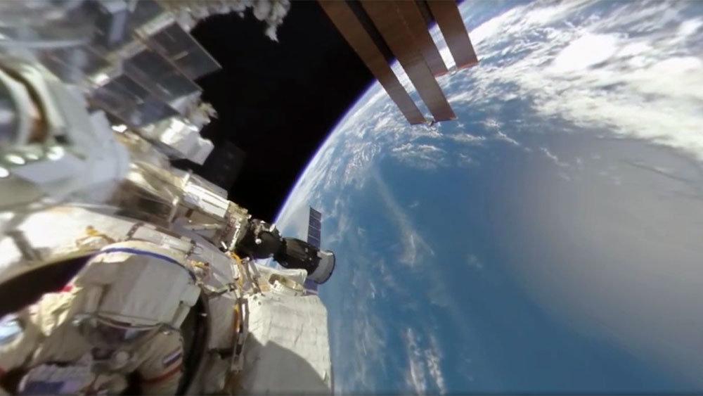 В интернет выложили панорамное видео, снятое в открытом космосе