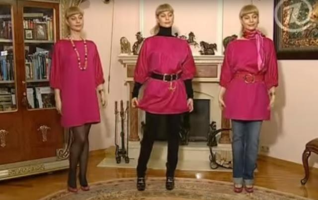 Шьём платье — блузу. Очень простой крой