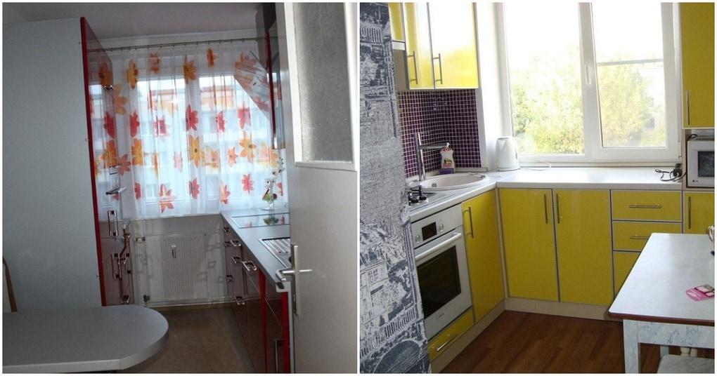 Продуманный дизайн очень маленькой кухни