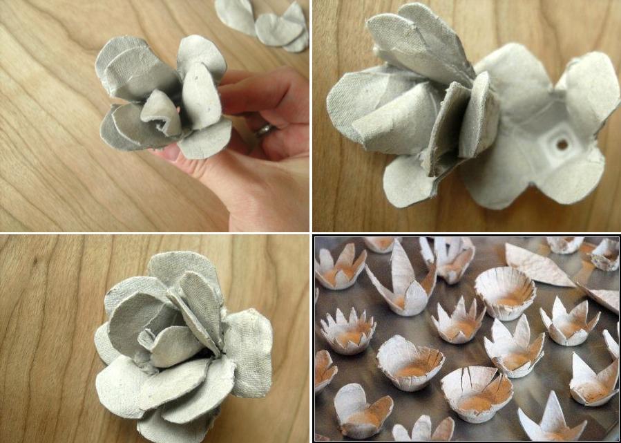 451Что можно сделать из яичных ячеек своими руками