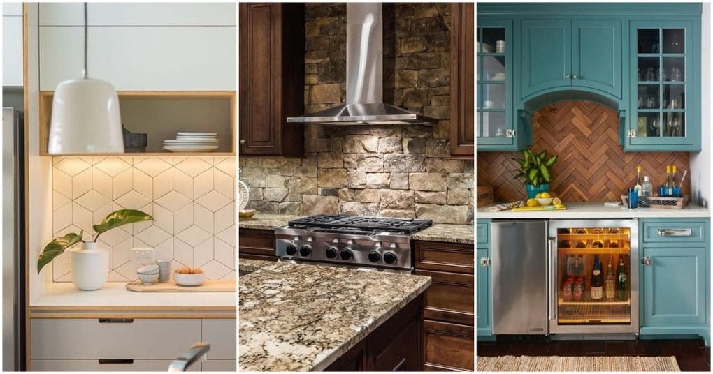 Практичные и стильные примеры отделки кухонного фартука