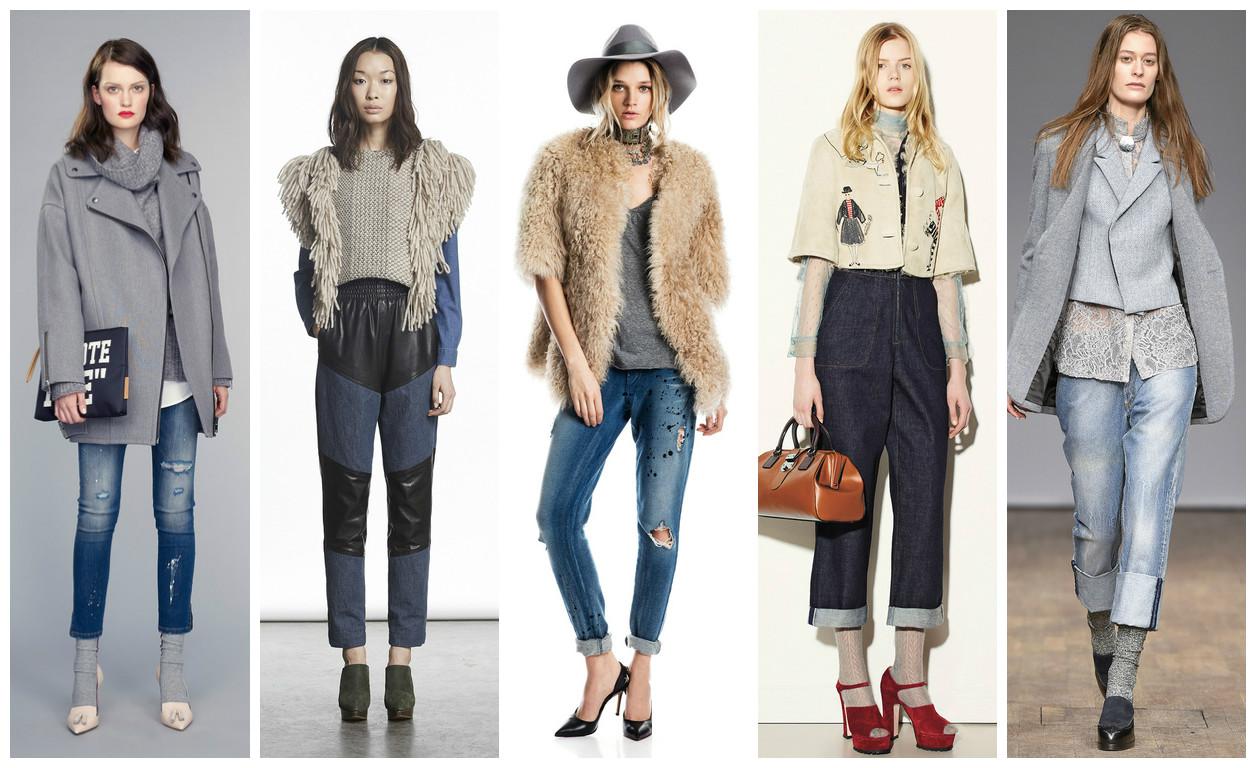 Модные джинсы 2015 - фото