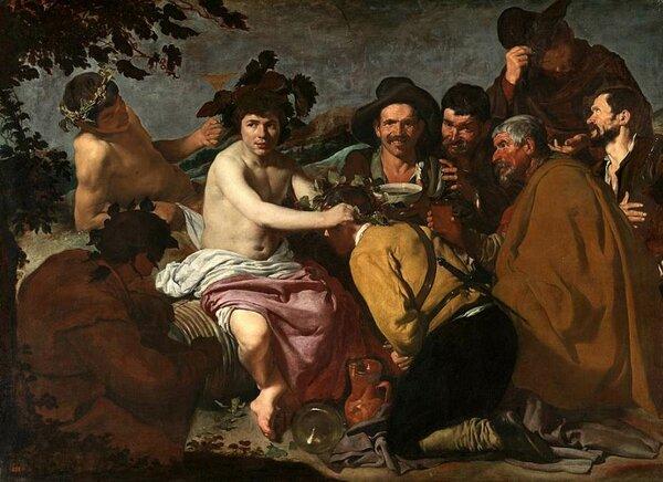 Что изображено на картине Веласкеса «Триумф Вакха»