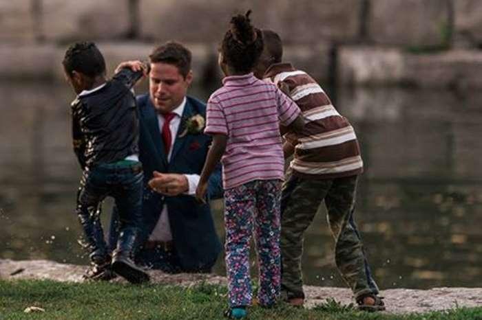 Жених спас тонущего мальчика прямо во время свадебной фотосессии!