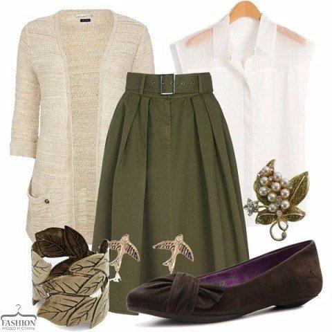 Цвет оливы: 10 способов сочетать модный оттенок в образах