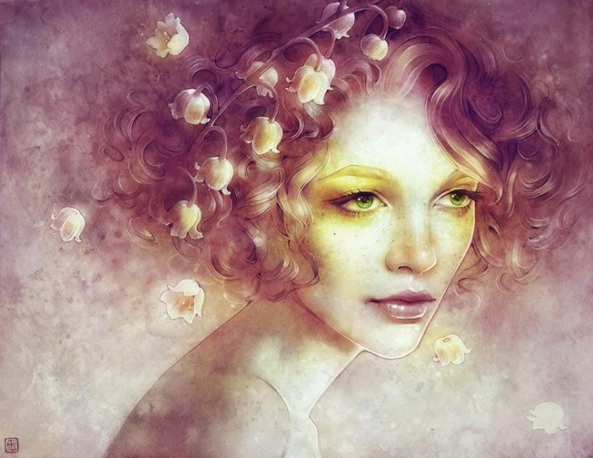 Красивые портреты в сюрреалистических штрихах от Анны Диттманн