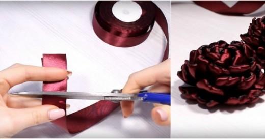 Умелая мастерица творит потрясающие изделия из атласных лент! Обязательно попробую!