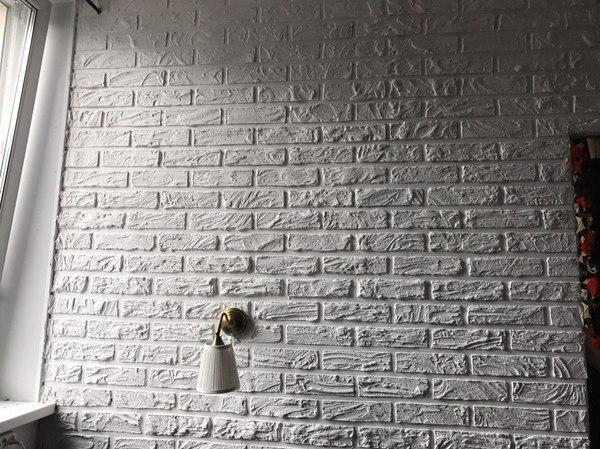 Имитация кирпичный стены своими руками