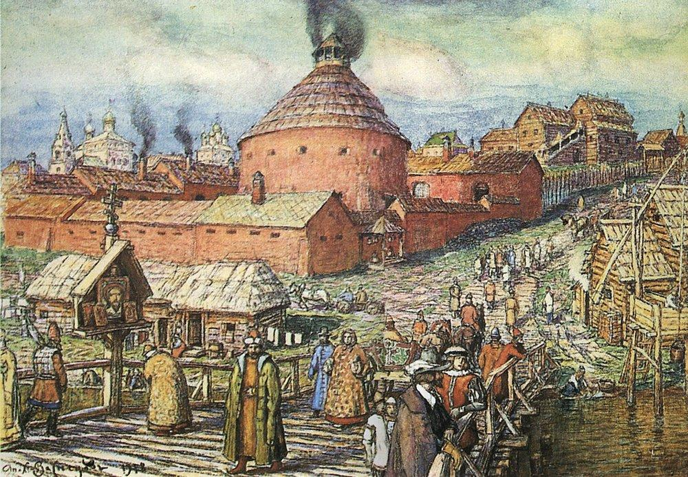 Численность населения средневековой Москвы.