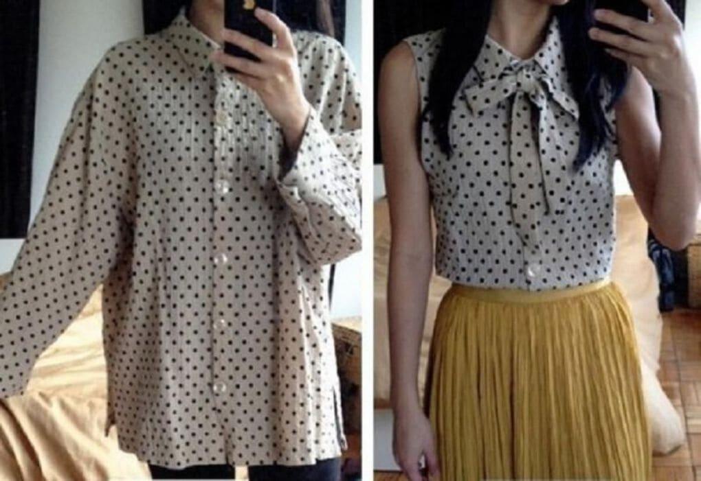 10 способов превратить мужскую рубашку в стильную блузу