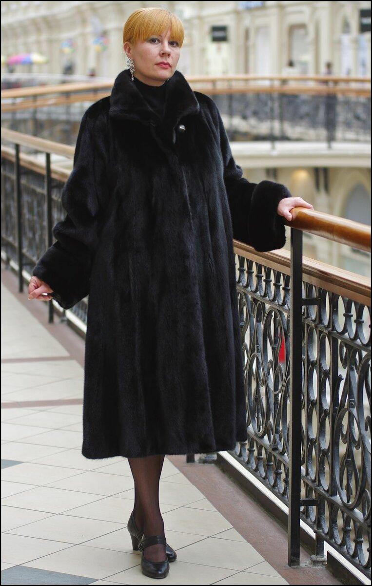 Норковая шуба-трапеция. /Фото: zhurnal-lady.com