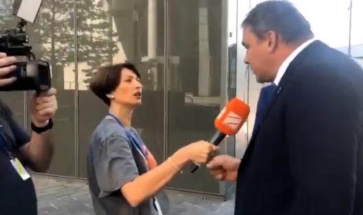 Как российского депутата журналистка из Грузии атаковала