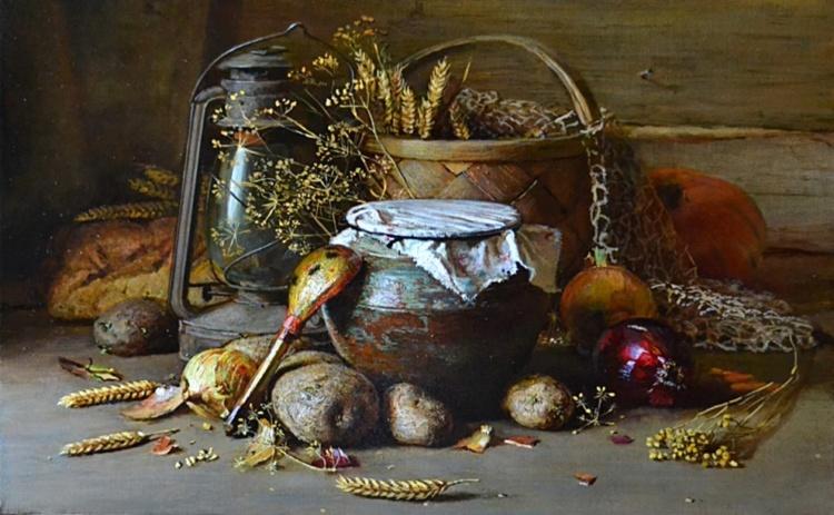 Художник Юрий Николаев. В доме пахнет хлебом, мёдом и цветами
