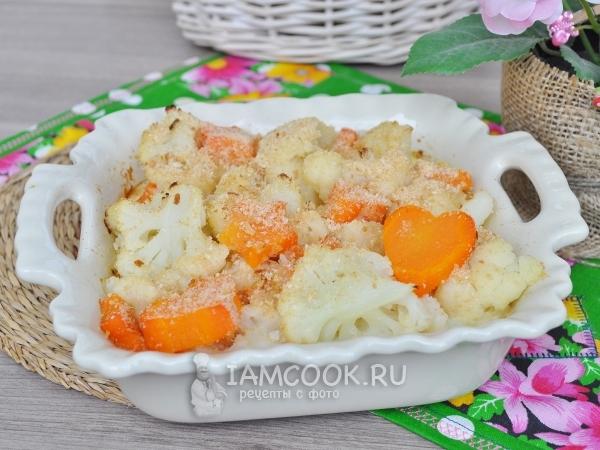 Фото запеканки из цветной капусты с морковью