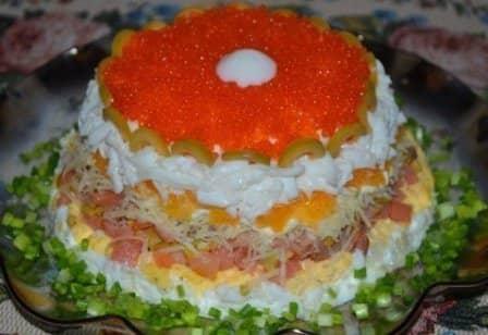 """Слоеный салат """"Жемчужина"""""""