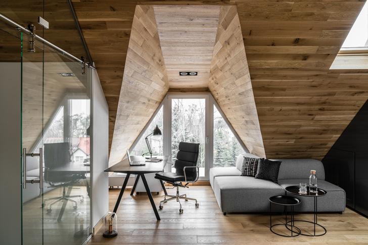 Небольшая квартира на чердаке в Польше (36 кв. м)