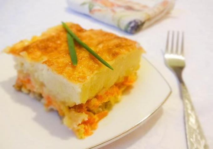 Рыбная запеканка с овощами и сыром