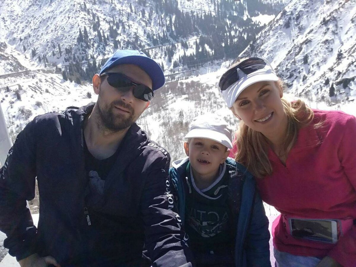 мы с сыном в горах