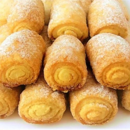 Вкусное печенье «Сахарные Трубочки».