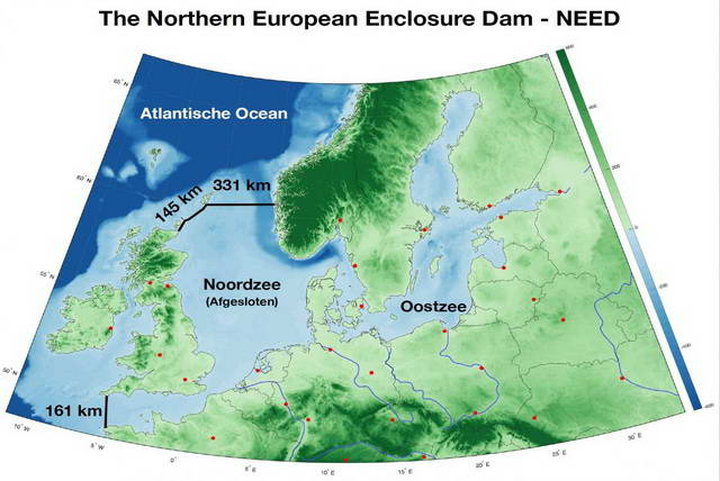 Плотина через всё Северное море: как  ученые предлагают спасать жителей Европы