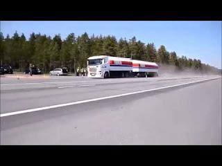 Тестируем тормозной путь грузовиков