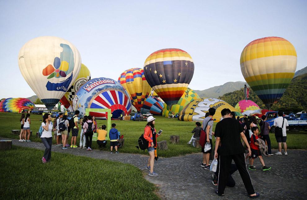 Фестиваль аэростатов на Тайване