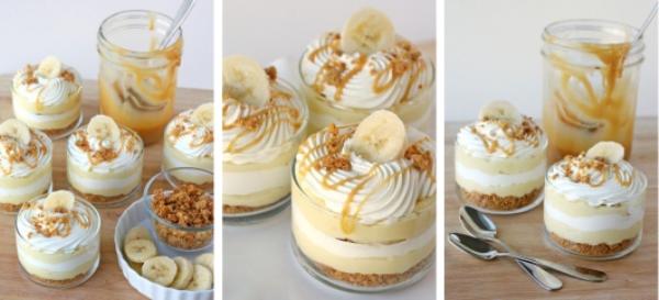 Праздник вкуса — бананово-карамельный десерт с кремом