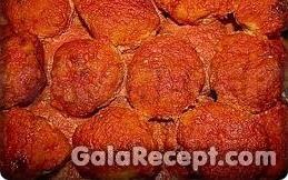 Оладьи из манки в томатном соусе