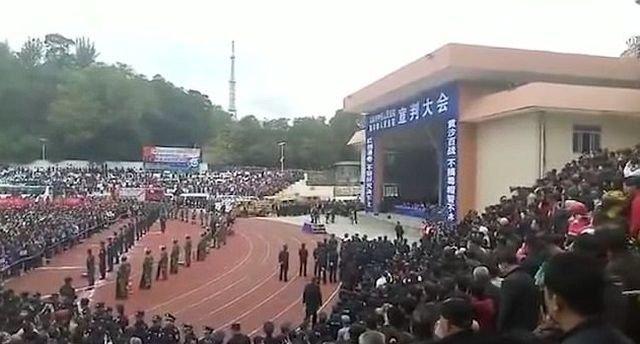 В Китае провели показательную казнь
