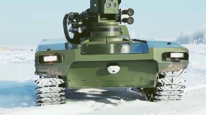 Начались испытания боевого робота «Маркер»