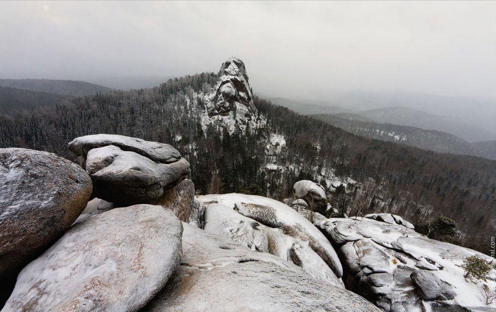 «Красноярские столбы» зимой