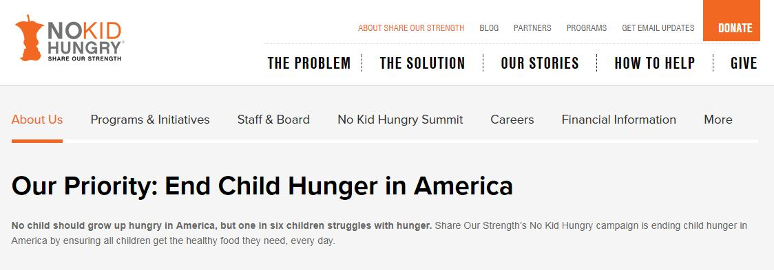 solution to hunger in america