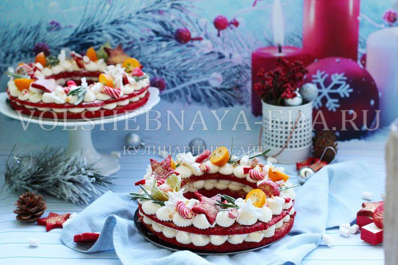 Торт «Новогодний венок»