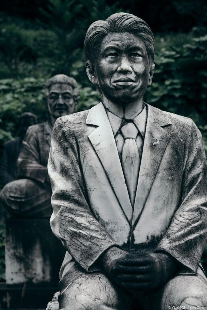 Кажется, будто перед тобой застыли живые люди, которые вот-вот оживут. парк, статуя, япония