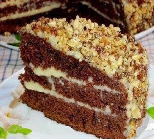 Вкусный шоколадный торт «Фантастика» на кефире. Приготовит любая хозяйка!