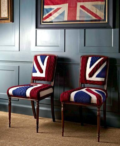 Стулья с британским флагом